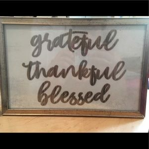 Grateful, thankful, blessed Wall Art7x11
